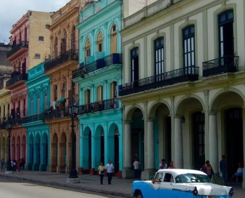 havana cuba buildings color